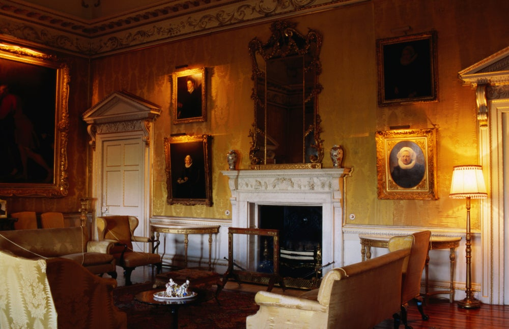 Interior of the Adam designed Hopetoun House near Queensferry.