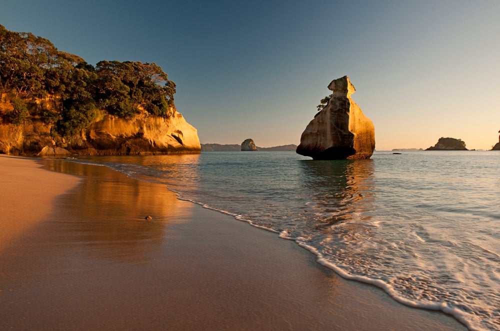 Beach at Cathedral Cove.