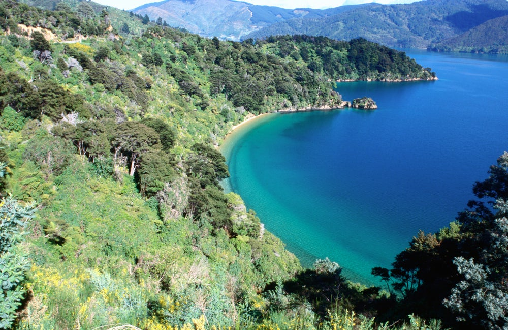 Marlborough Sounds on New Zealand's South Island.