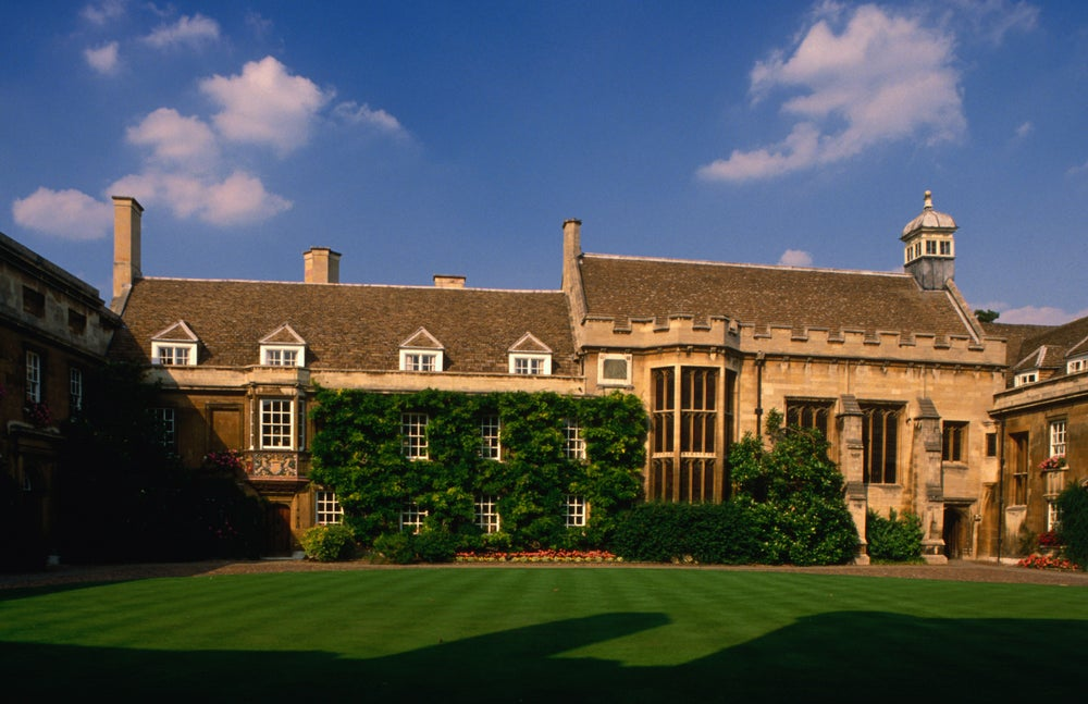 Christ's College, University of Cambridge, was first established in 1437 as God's-house.