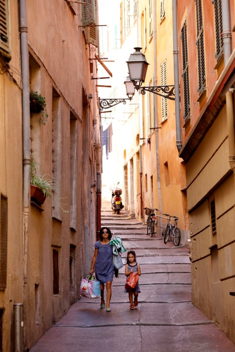 One of many narrow streets in Old Nice.