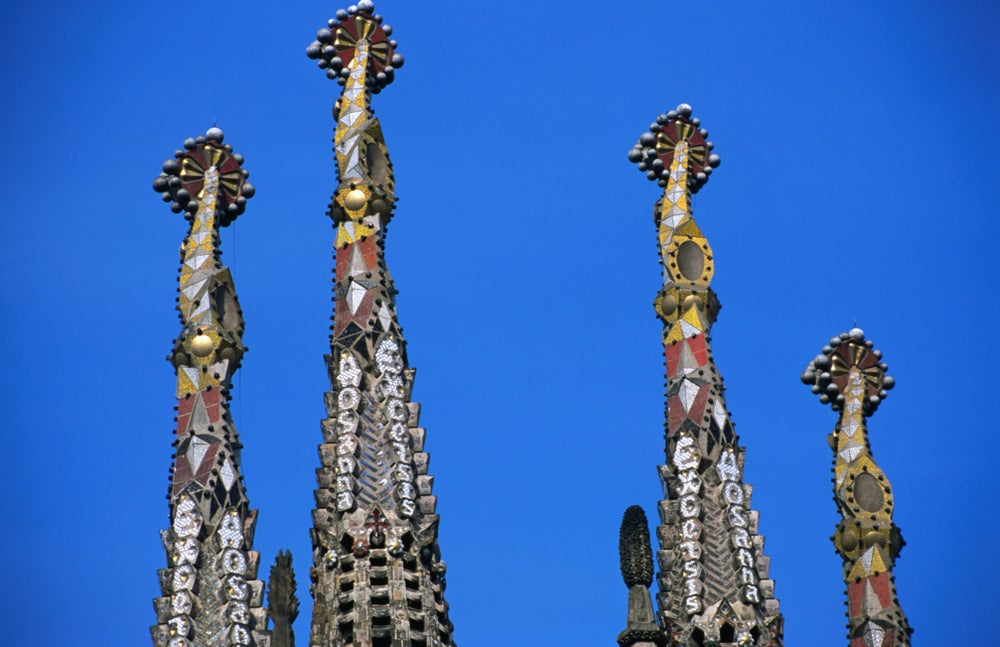 Detail of Temple of La Sagrada Familia by Gaudi.