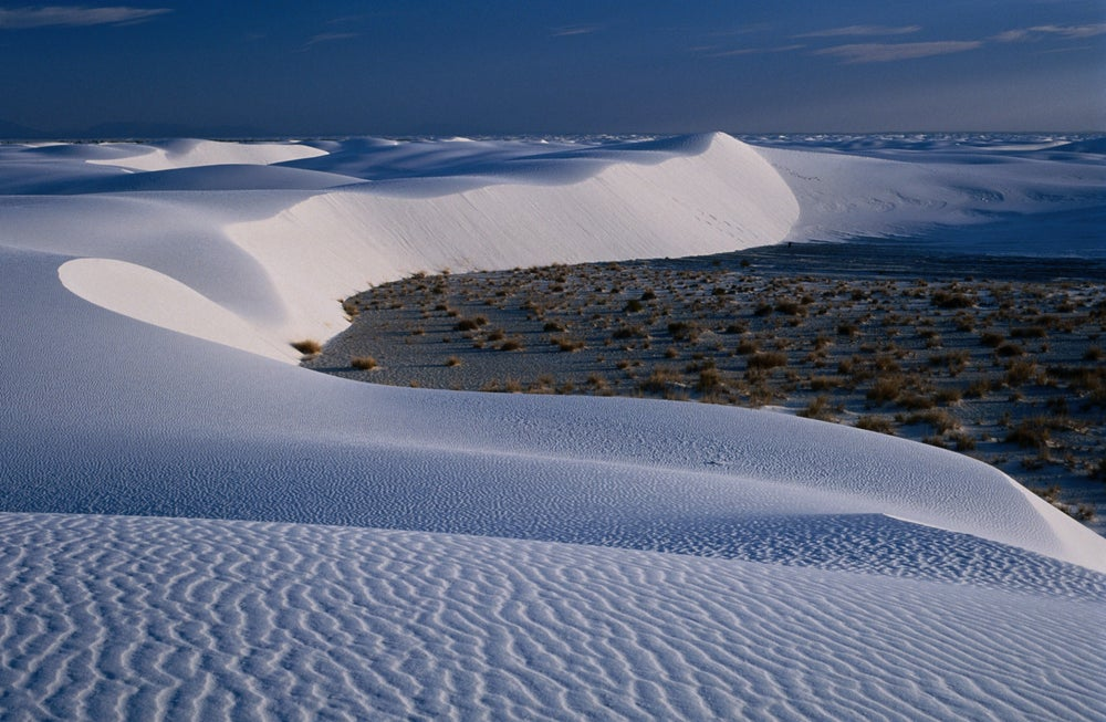 Patterns in the White Sands National Monument.