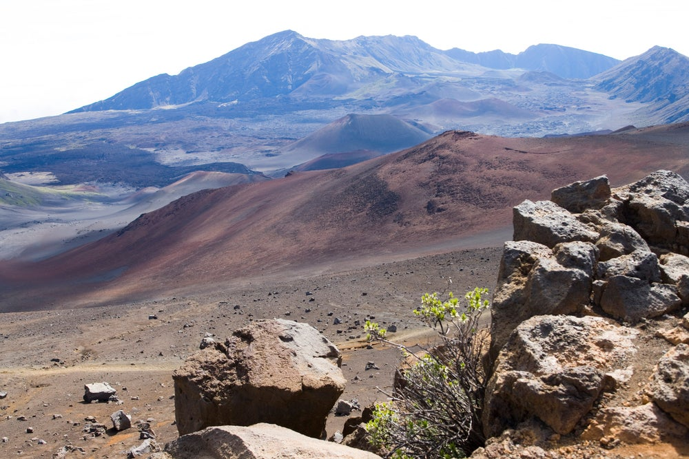 View of the crater from the Sliding Sands Trail, Haleakala National Park.
