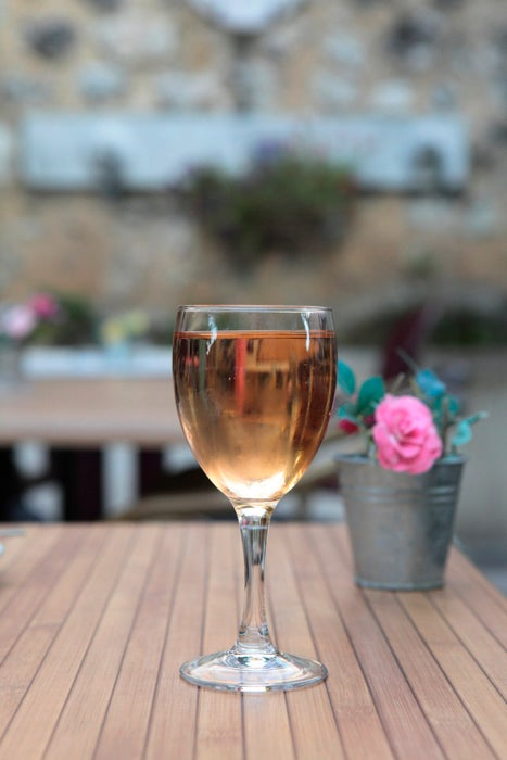 Glass of rosé at Chateau Leoube, Bormes-les-Mimosas.