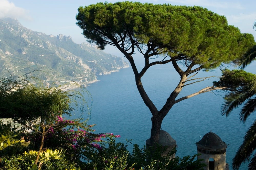 Gardens of Villa Rufolo on Amalfi Coast.