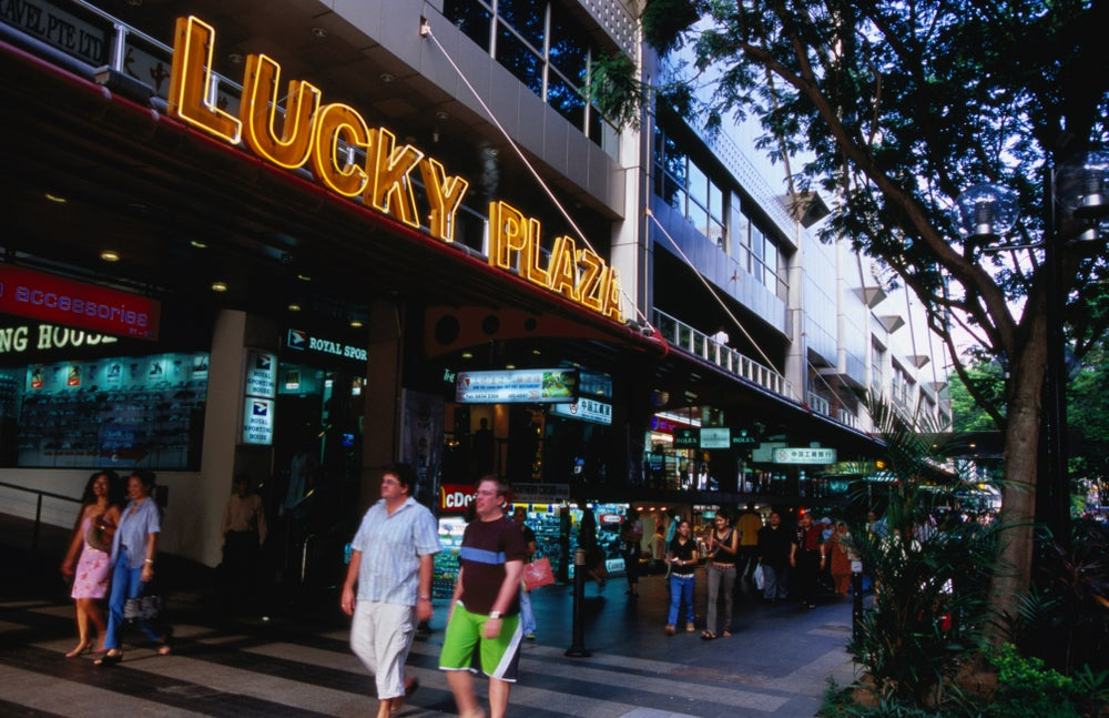 Lucky Plaza on Orchard Road.