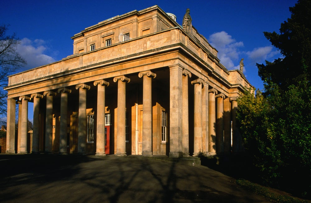 The Pittville Pump Room, built between 1825 and 1830, at the Cheltenham Spa - England