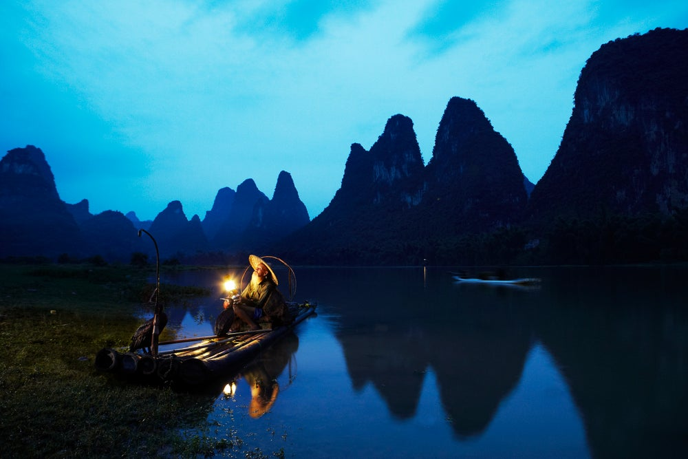 Cormorant fisherman on Yulong River.