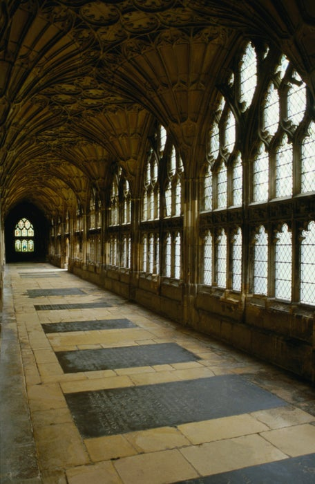 The Cotswolds: Inside the Gloucester Cathedral - England