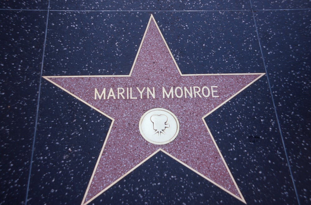 Marilyn Monroe star, Hollywood Walk of Fame.