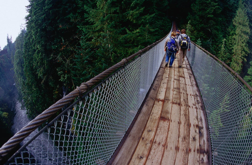Capilano Suspension Bridge, North Vancouver.