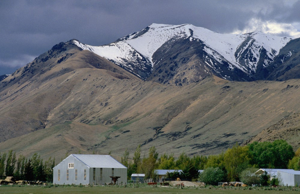 Farm buildings in Tekapo.