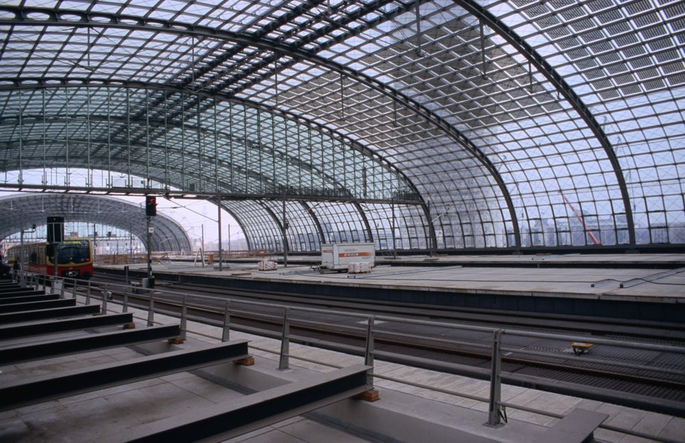 Construction of future Main Train Station Hauptbahnhof.