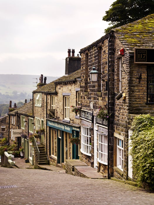 Historical streets of Haworth.