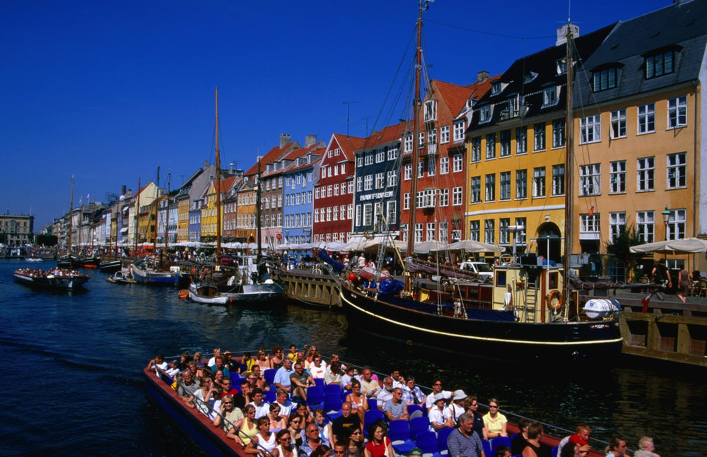 Canal boat in Nyhavn.