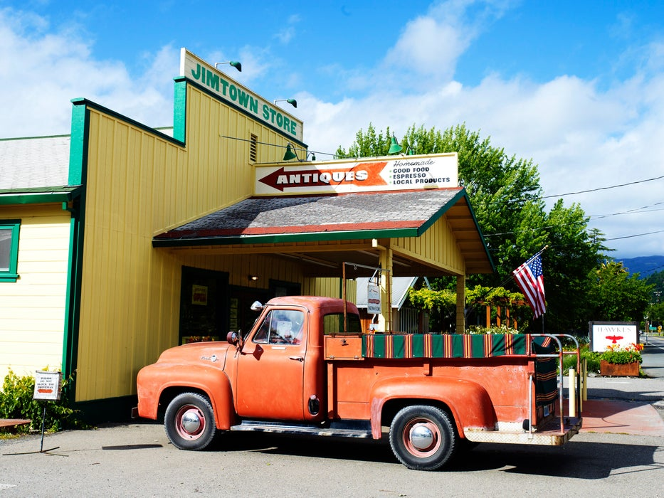 Old Ford truck outside Jimtown Store in Alexander Valley.