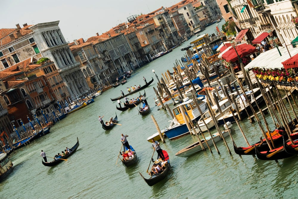 Grand Canal vieved from Ponte di Rialto.