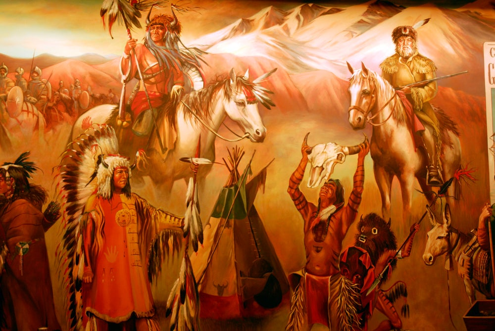 Mural in Museum of the American West, Griffith Park.