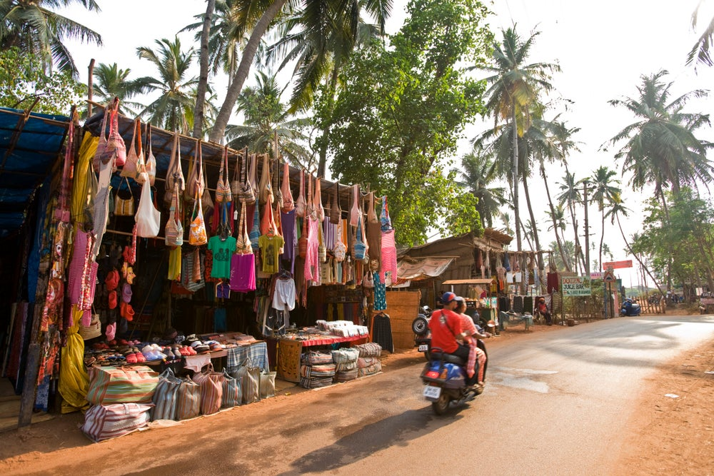Market stall on the road to Arambol Beach.