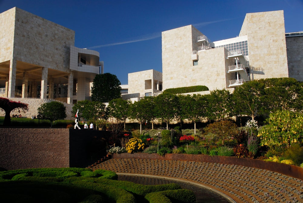 Getty Center, gardens.