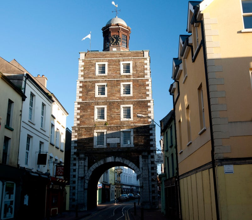 Road through historic Clock Gate.