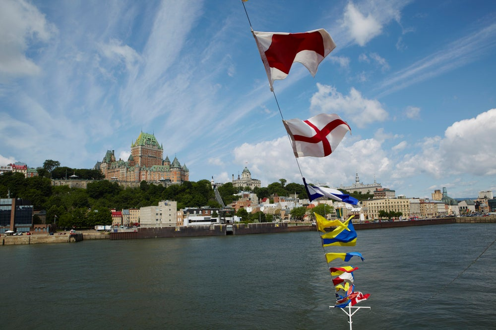Quebec City seen from Quebec-Levis Ferry.