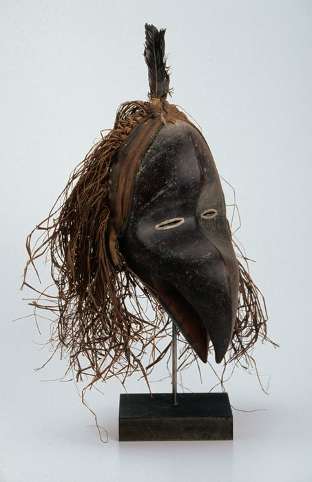 Traditional Dan mask from Liberia.