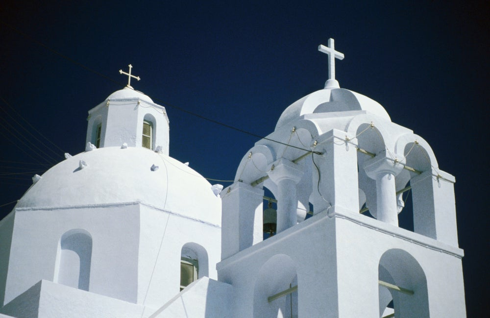 Domes of Phira. Thira.