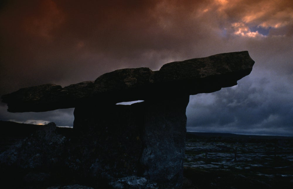 Neolithic structure, The Burren, County Clare, where over 2500 historic sites can be found