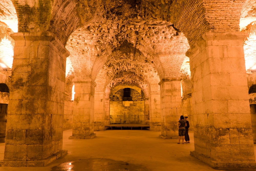 Basement halls of Diocletian's Palace.