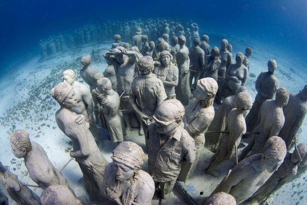 Cancun Underwater Museum is the world's largest, with around 600 statues based on local people.