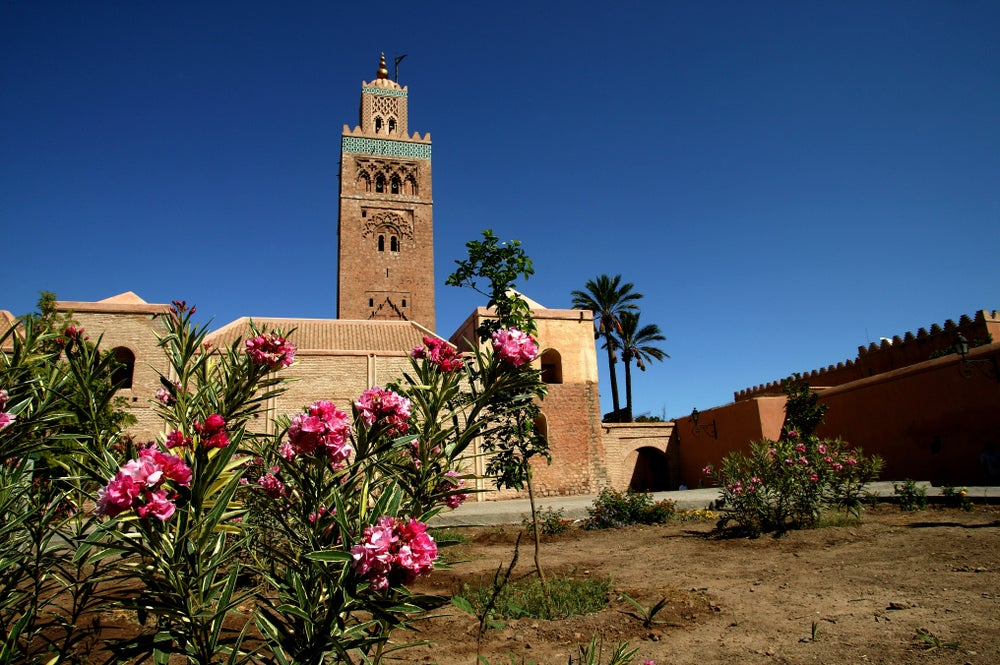 Koutoubia Mosque and gardens.
