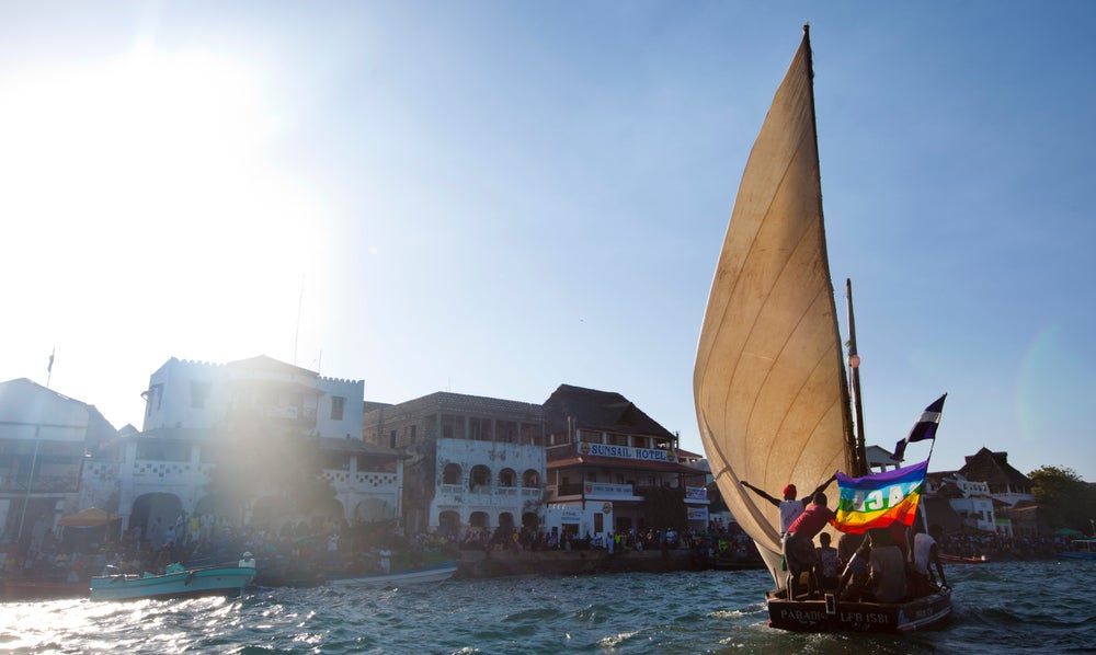 Dhow racing during Maulidi Festival.