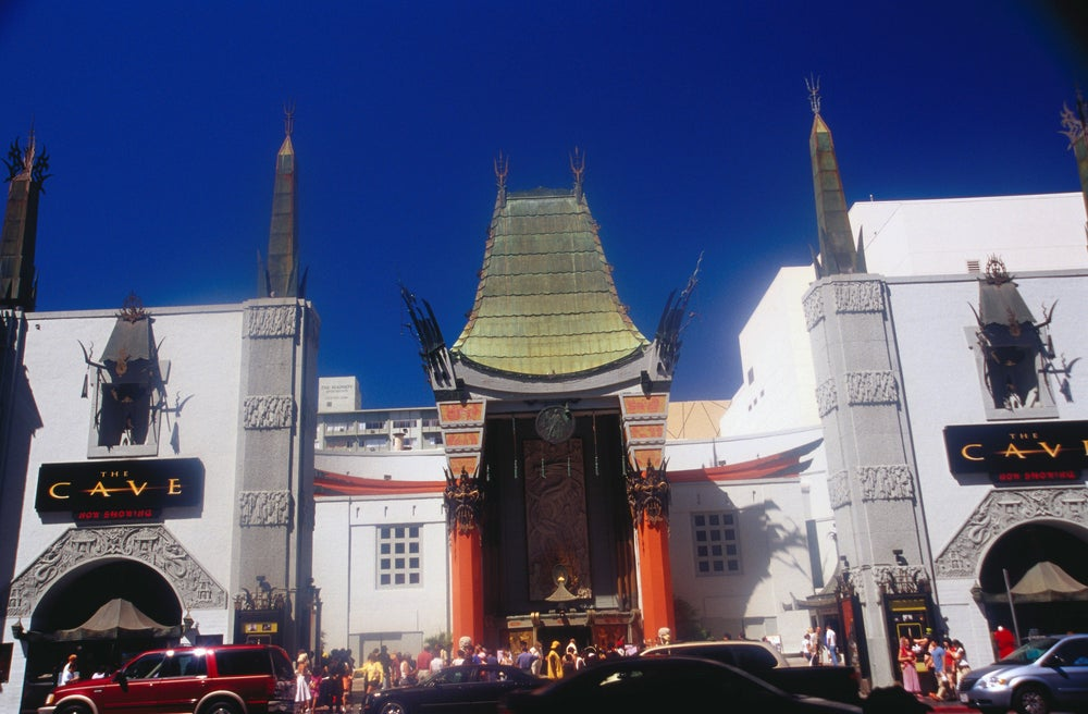 Graumann's Chinese Theatre in Hollywood.