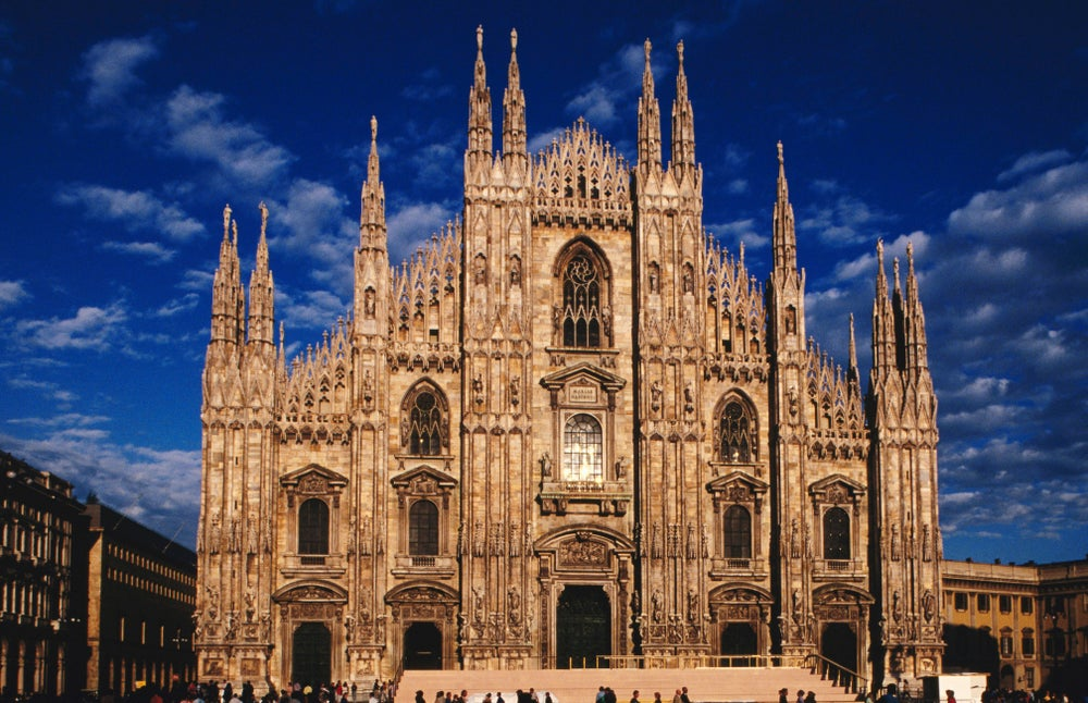 Front of Milan Cathedral.