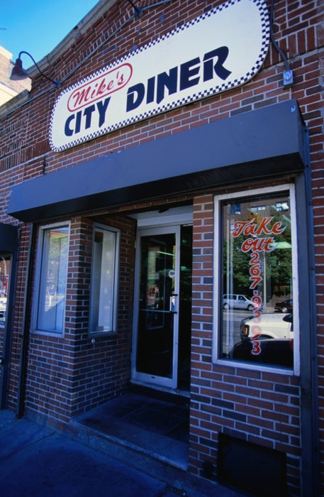 For that old-fashioned warm and fuzzy feeling, visit Mike's City Diner on Washington Street, Boston.