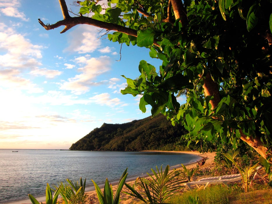 Beach in a secluded bay on Naviti.