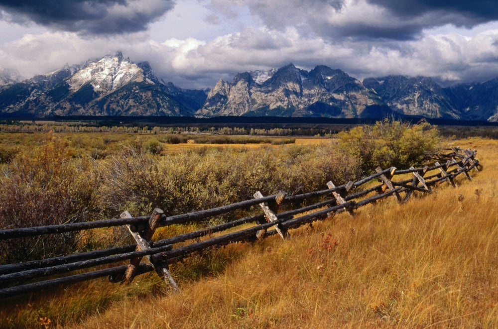 Fencing in the Grand Teton National Park.