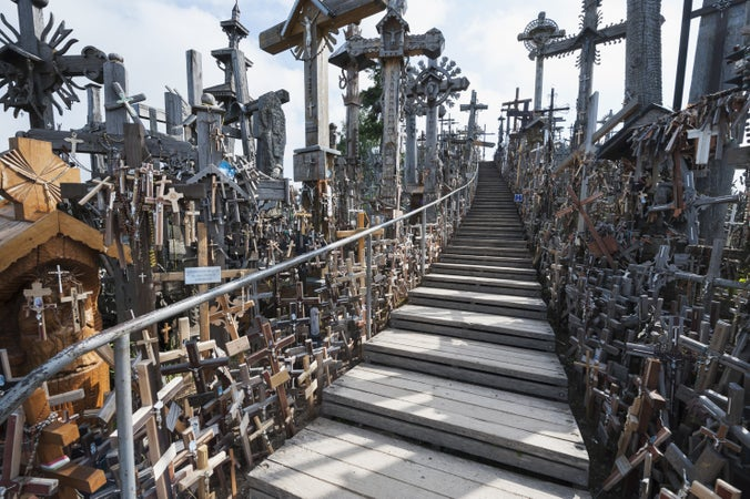 Hill of Crosses Siauliai Hill of Crosses in Siauliai