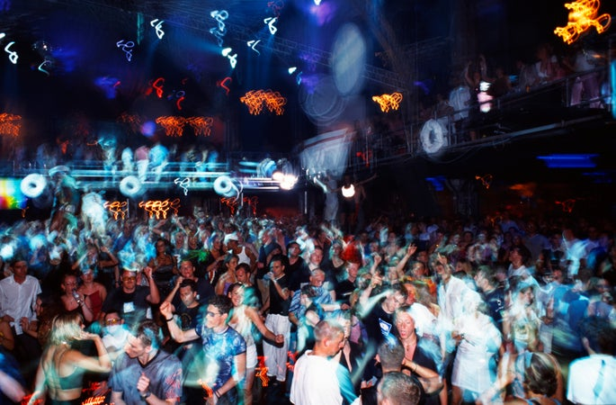 Dance floor at Privilege in Ibiza, Ibiza City, Spain