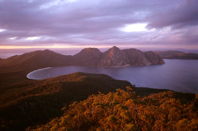 Wineglass Bay, Freycinet National Park, Tasmania, Coles Bay & Freycinet National Park, Australia