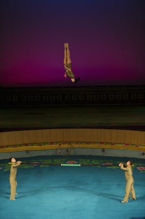 Artists performing in Pyongyang Circus, Pyongyang, North Korea