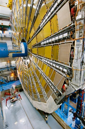 Large Hadron Collider in CERN, Geneva, Switzerland