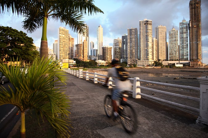 Biking in Panama City, Panama City, Panama
