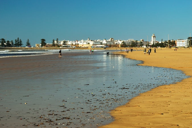 View of Essaouira from the beach, Essaouira, Morocco