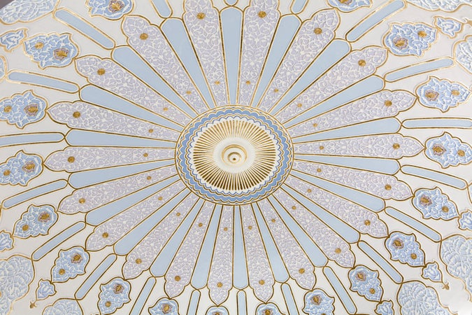Detail of ceiling in the Islamic Arts Museum, Lake Gardens, Brickfields & Bangsar, Malaysia