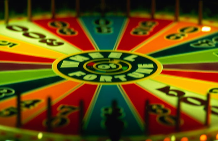 Wheel of fortune at the huge Gambler's General Store, Downtown & Fremont St, USA