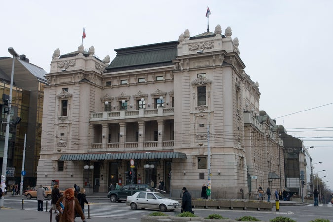 Exterior of National Theatre, Belgrade, Serbia