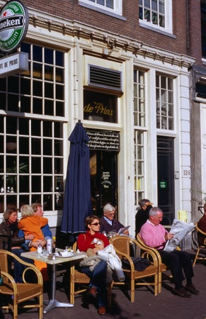 Outdoor cafe, Amsterdam, The Netherlands